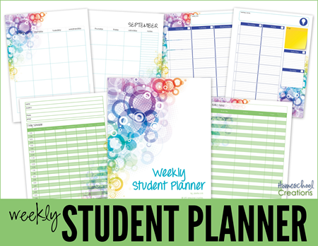 Student Planner full year || Homeschool Creations
