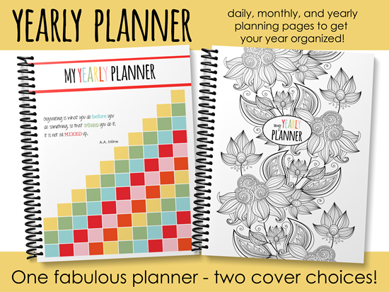 Yearly Planner from Homeschool Creations - daily, monthly, and yearly pages to get you organized