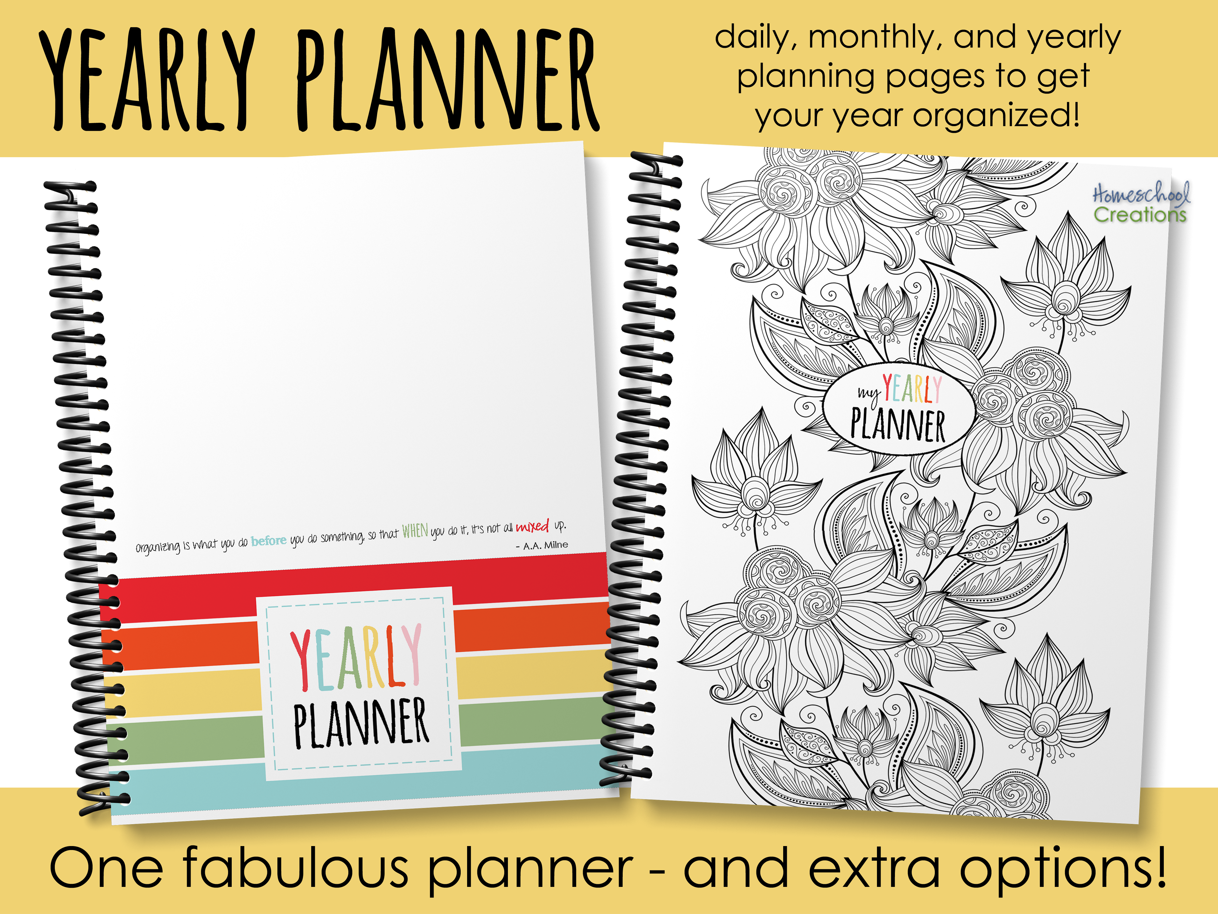 Yearly Planner Organize Your Days