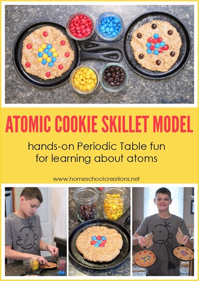 atomic cookie skillet model - hands on way to learn about atoms and the periodic table