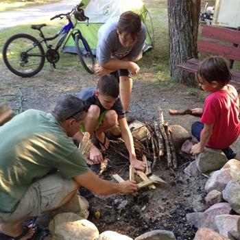 campfire building