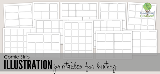 comic strip illustration sample pages - Homeschool Creations