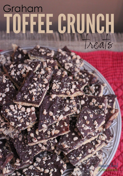 graham toffee crunch treats recipe from Homeschool Creations copy