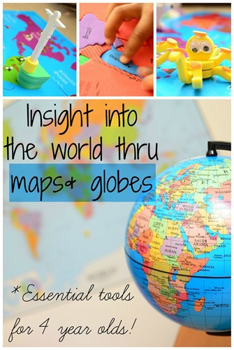 01 Maps & Globes, Essential Tools for 4 year olds