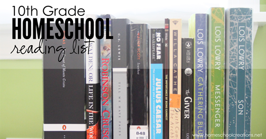 10th grade homeschool reading list 2015 - Homeschool Creations