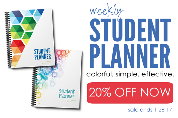 20% sale student planner