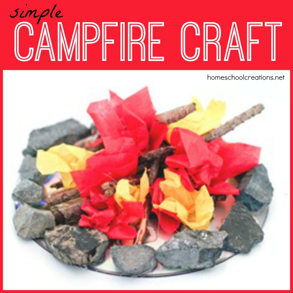 Campfire craft for kids