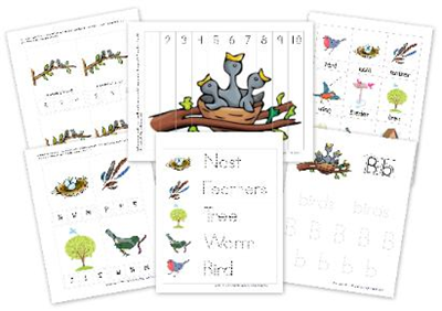 Bird Theme printable pack
