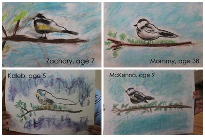 Chickadee Pastels