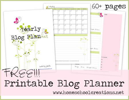 photo about Printables Blog named Site Planner Printables ~ Prepare Your Blog site Designing