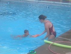Kaleb swimming