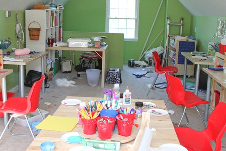 Messy Homeschool Room-1