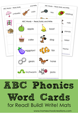ABC Phonics Word Cards