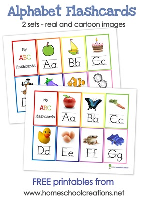picture about Printable Alphabet Flash Cards identified as Alphabet Flash Playing cards and Alphabet Wall Posters