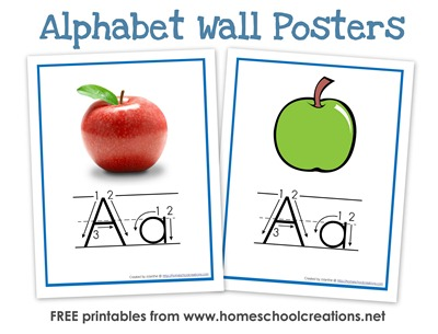 photograph about Free Printable Abc Flashcards called Print and Cursive Alphabet Flashcards and Posters - Current!