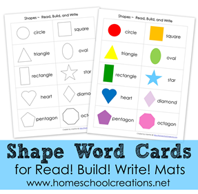 Shape Word Cards