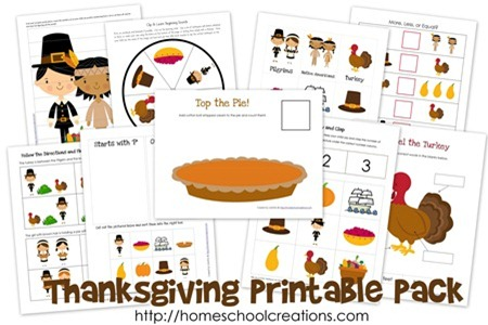 Thanksgiving Printable Pack for Preschool and Kindergarten