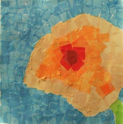 Poppy Art Collage-6yearold