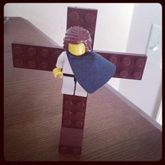 Jesus on the Cross Legos