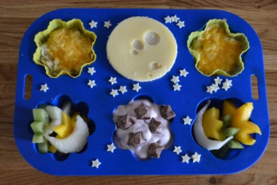 Goodnight Moon muffin tin meal