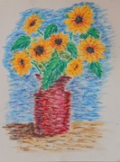 See the Light Sunflower Van Gogh project-Laurianna age 11