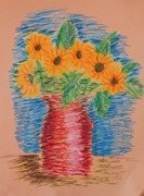 See the Light Sunflower Van Gogh project-McKenna age 10