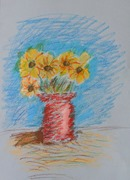 See the Light Sunflower Van Gogh project-Zachary age 8