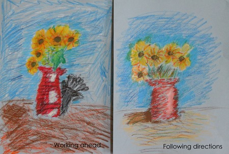 See the Light Sunflower Van Gogh project-following directions