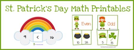St. Patrick's Day Math Printalbes