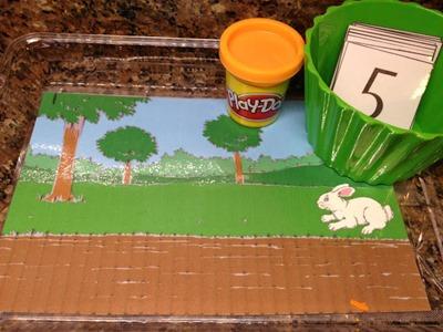 bunny playdough mat
