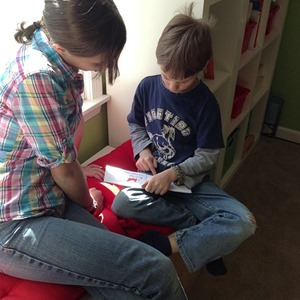 reading with a sibling