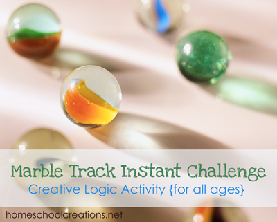 Marble Track Instant Challenge logic activity