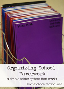 Organizing School Paperwork - a simple folder system that works