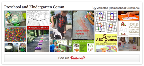 Preschool Pinterest Board