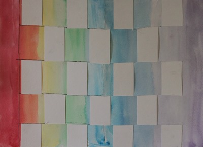 Rainbow Weaving from Home Art Studio