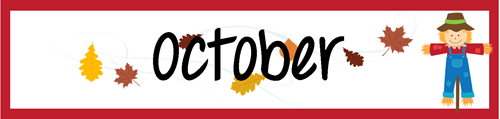 May Calendar Heading : October calendar numbers and header free printable