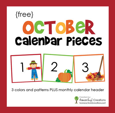 October Calendar Numbers And Header Free Printable