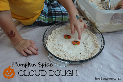 Pumpkin Spice Cloud Dough