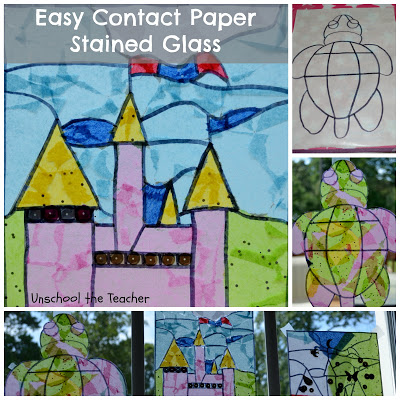 Contact Paper Stained Glass