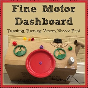 Homeschool Preschool - Fine Motor Dashboard