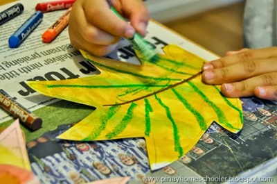 Homeschool Preschool - Leaf Art