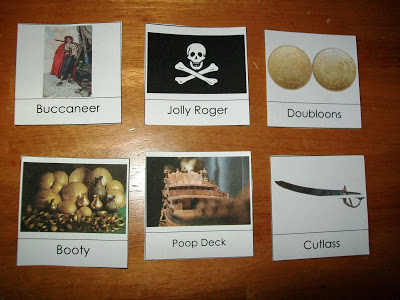 Pirate Montessori Word Cards