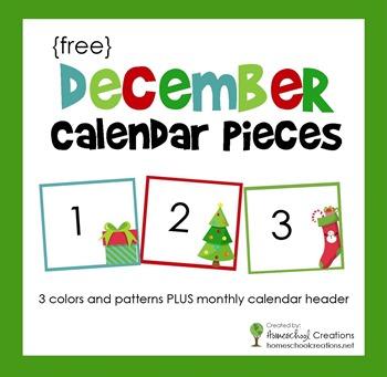 December pocket chart calendar numbers fandeluxe Image collections