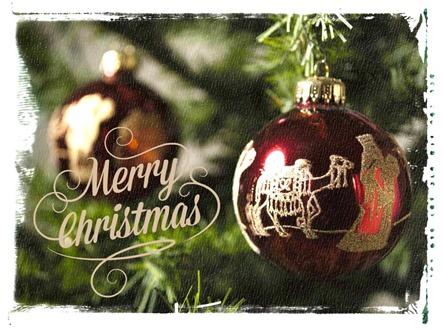 Christmas Ornaments and Merry Christmas