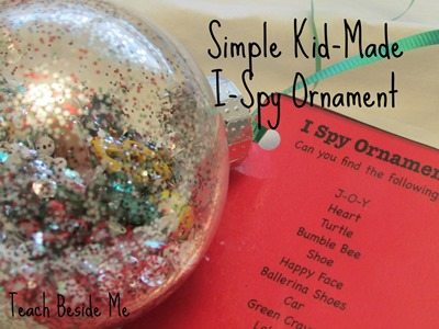 Homeschool Preschool - I-Spy-Ornament
