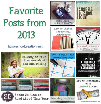Posts Not to Miss from Homeschool Creations in 2013 copy