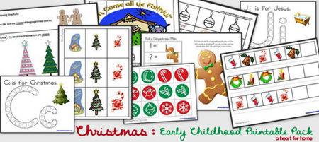 Christmas Printables - Early Childhood Pack