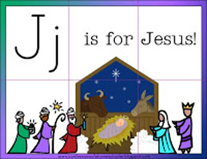 Christmas Printables - J is for Jesus