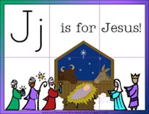 Christmas Printables - J is for Jesus