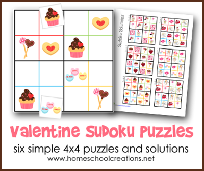 Valentine's Day Sodoku Puzzles